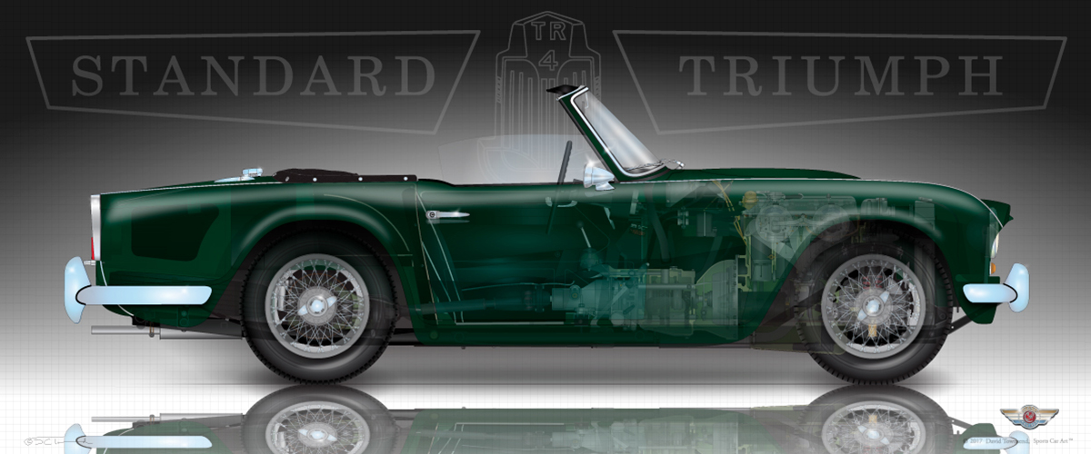 Triumph Tr4tr4a Sports Car Art