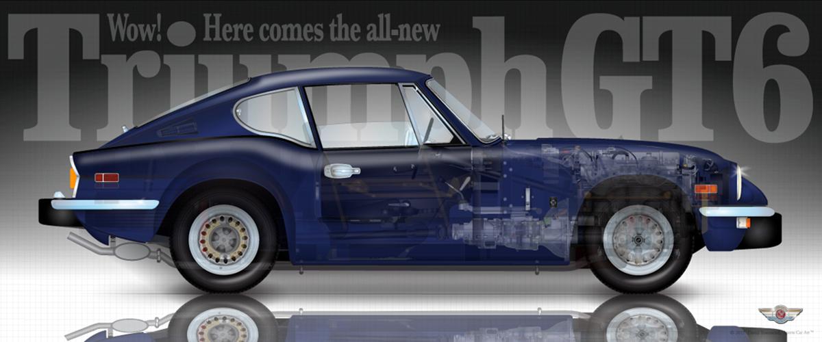 Triumph Gt6 Mkimkiii Sports Car Art