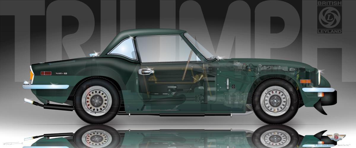Triumph Spitfire Mk1 1500 Sports Car Art