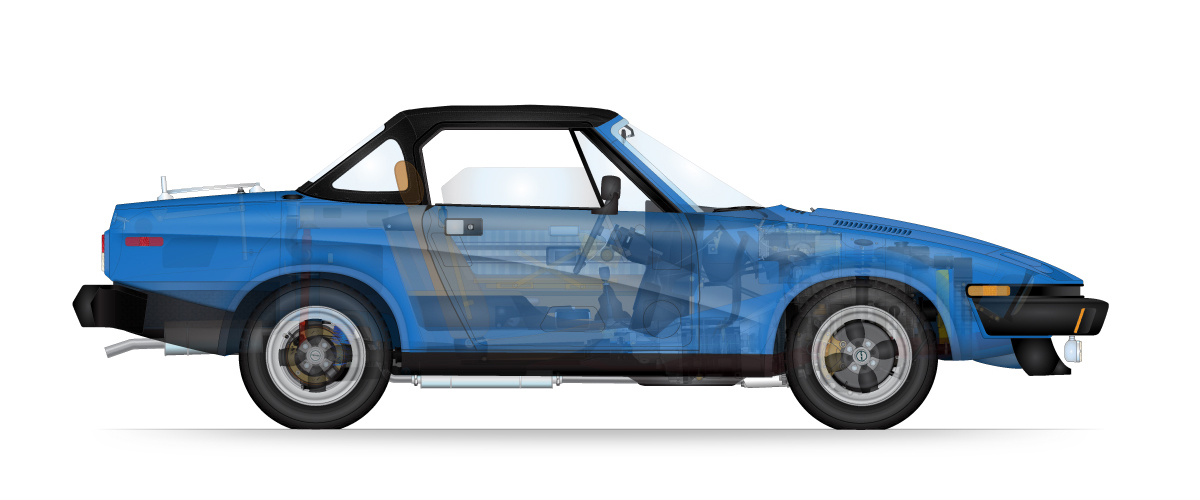 Triumph TR7 - Sports Car Art