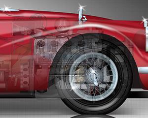 Daimler-SP250-engine