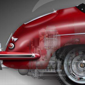 Porsche-356B-engine