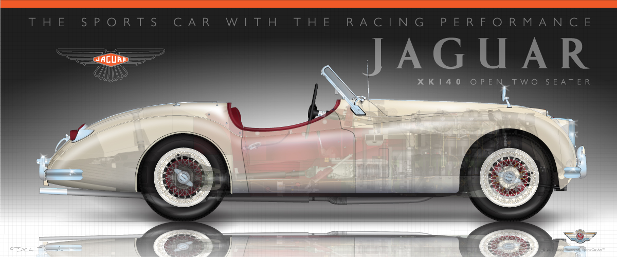 Jaguar XK140 Roadster Strap Kit
